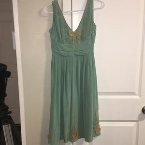 "Anthropologie Dresses - Anthropologie ""tawny garden"" silk dress"